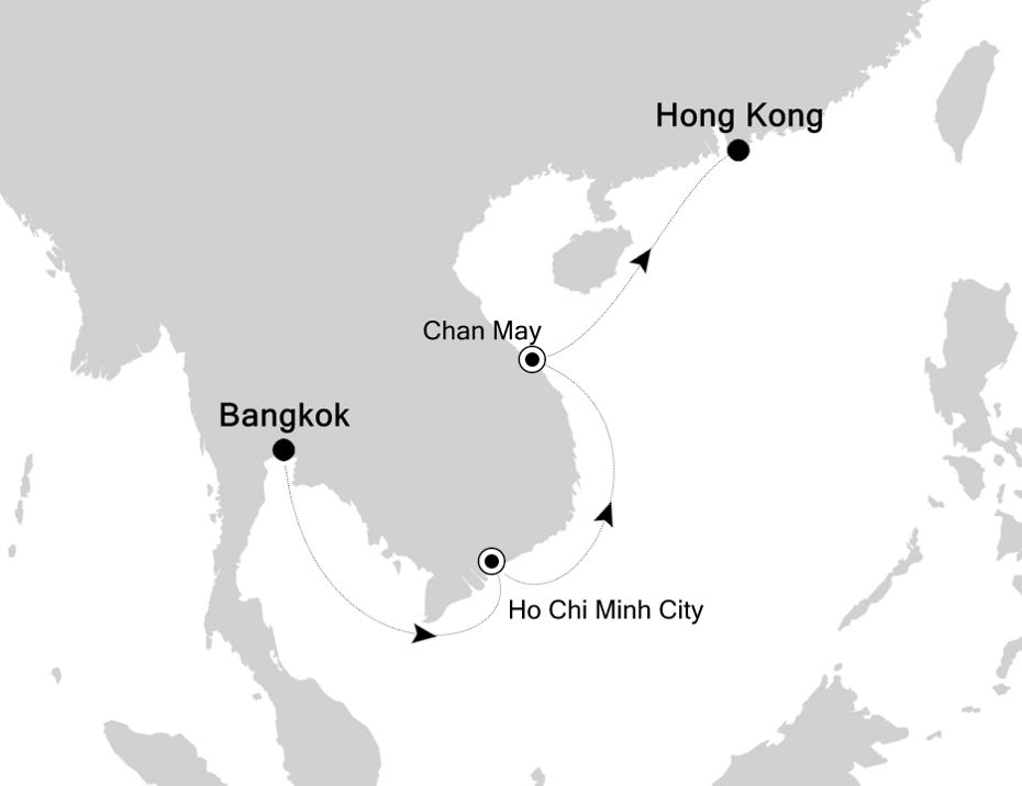 3810A - Bangkok à Hong Kong