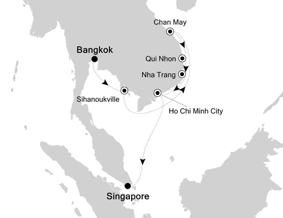 3834A - Bangkok à Singapore