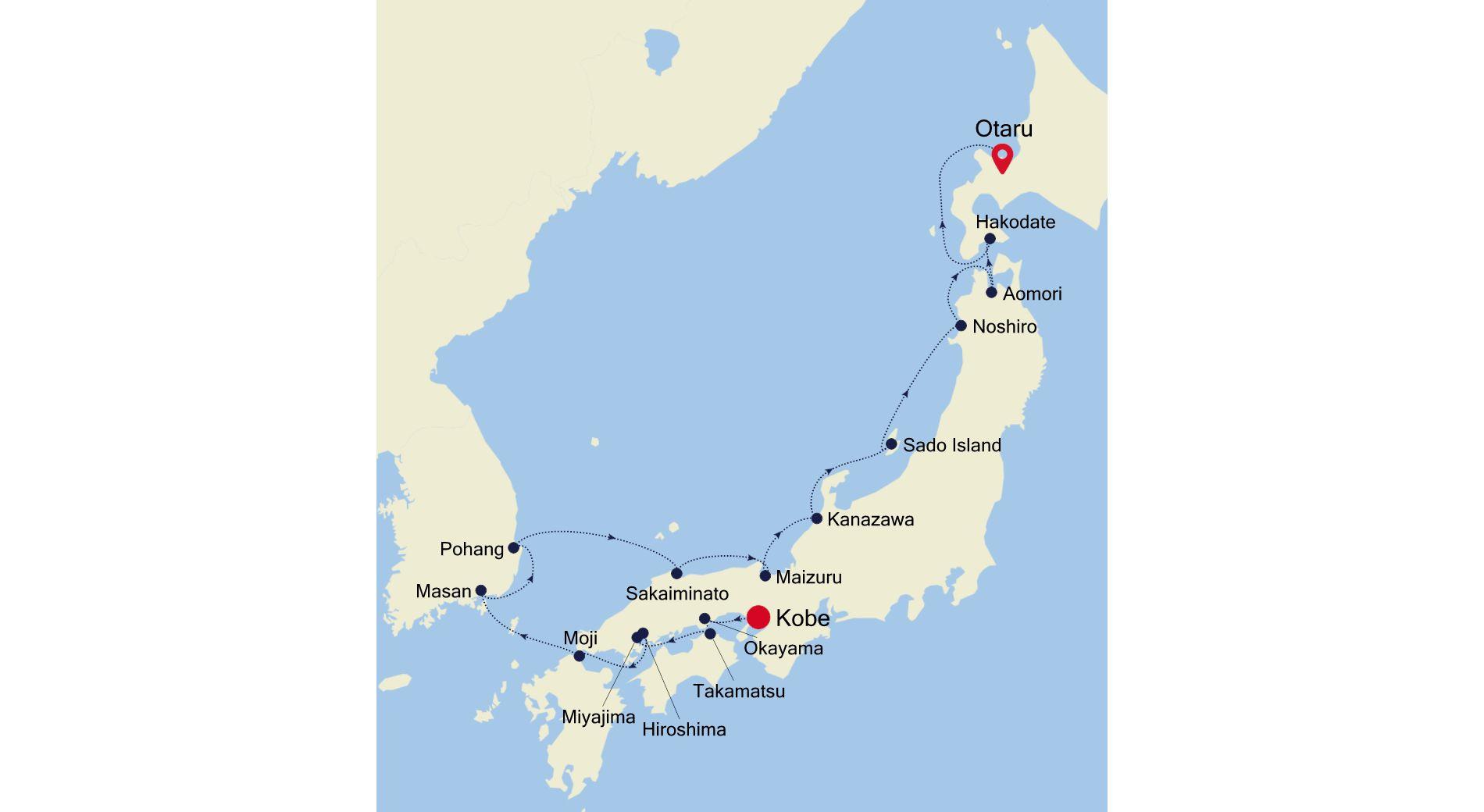 7911 - Kobe  to Otaru