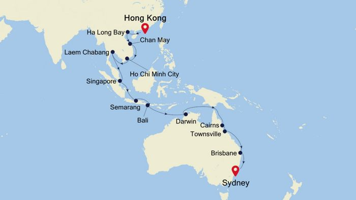 Luxury Cruise from HONG KONG to SYDNEY 04 Nov 2019 | Silversea