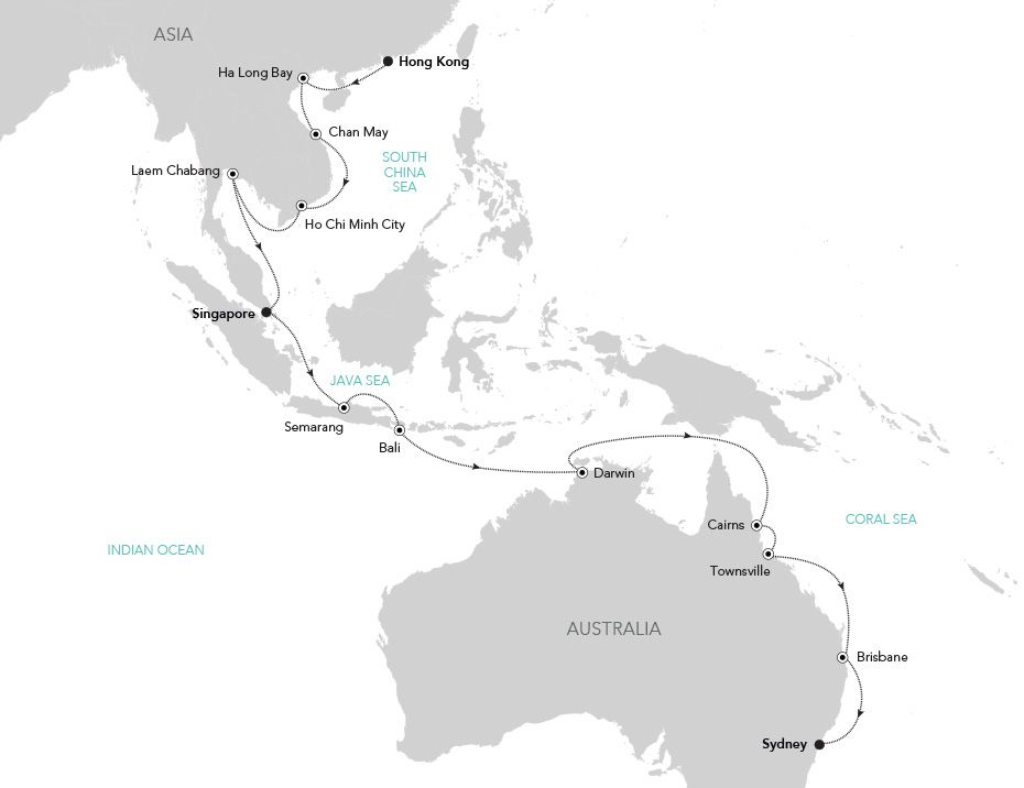 Luxury Cruise from HONG KONG to Sydney 04 Nov 2019   Silversea