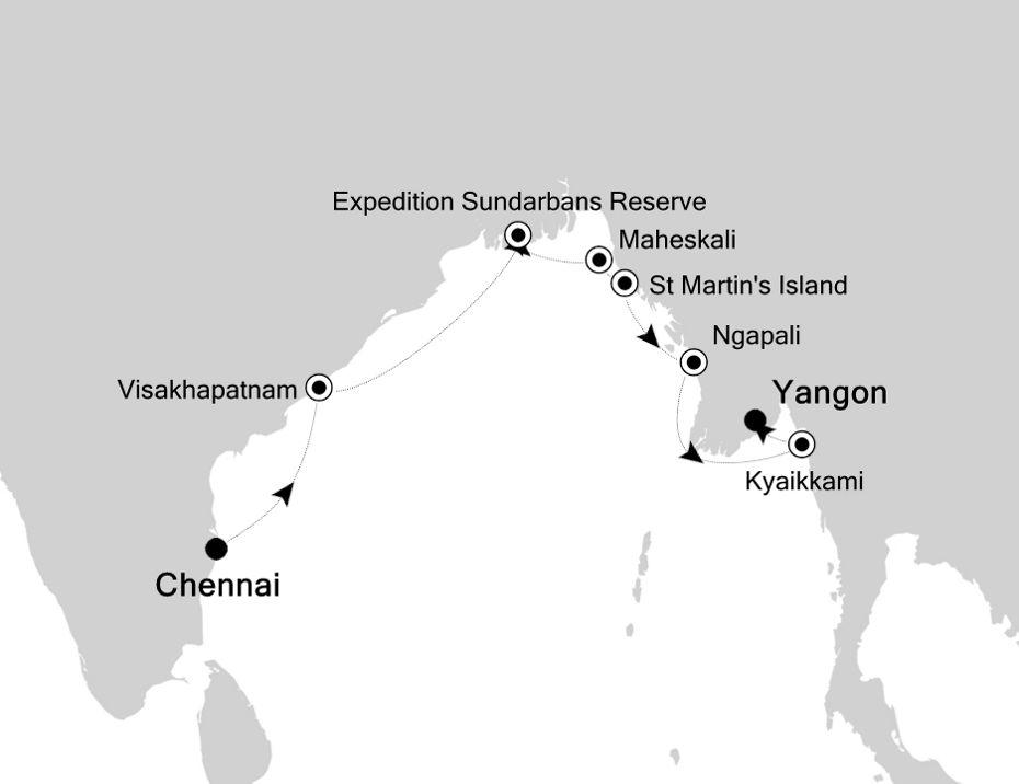 9904 - Chennai nach Yangon