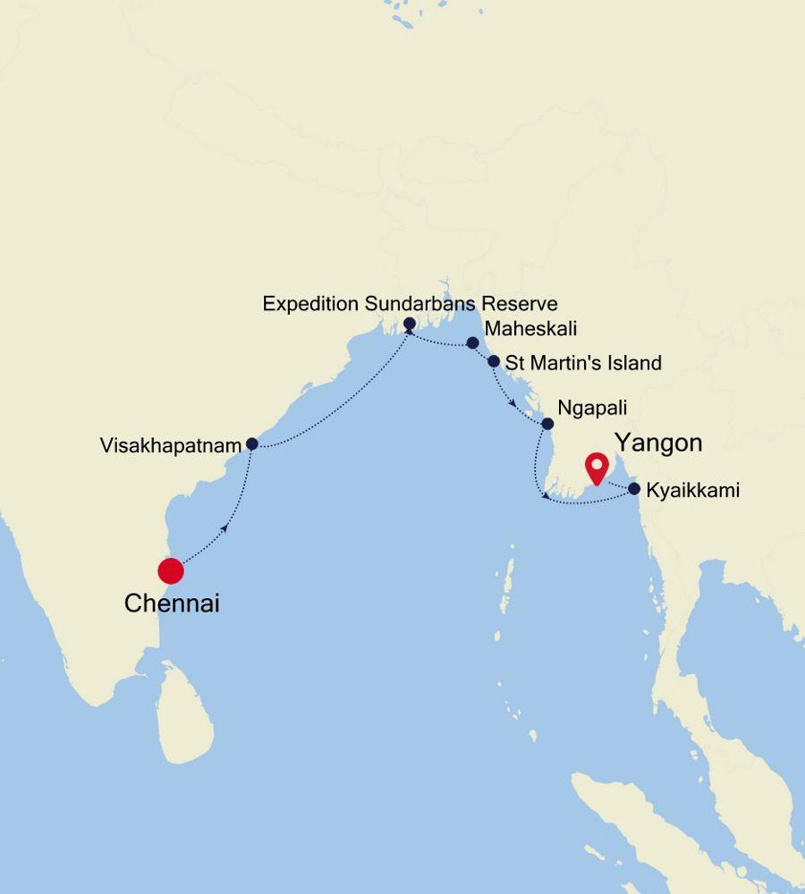 9904 - Chennai a Yangon