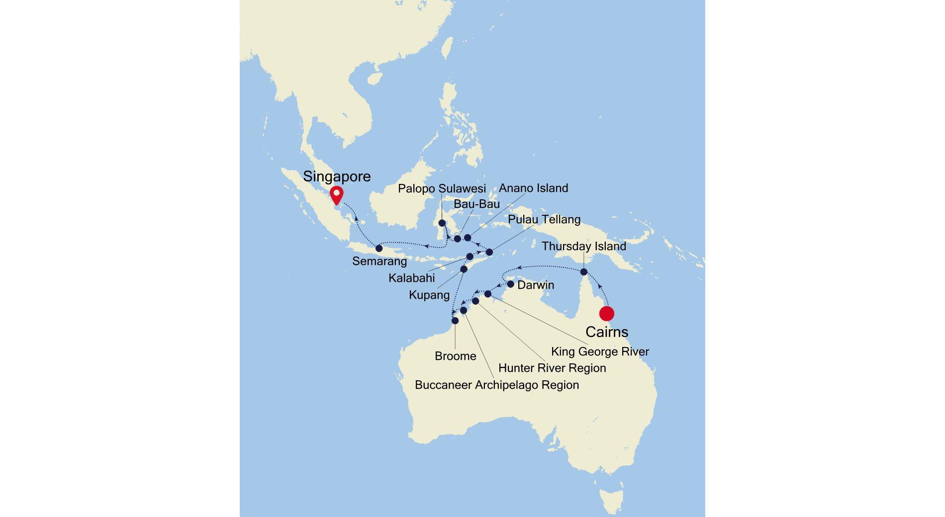 E4220401022 - Cairns nach Singapore