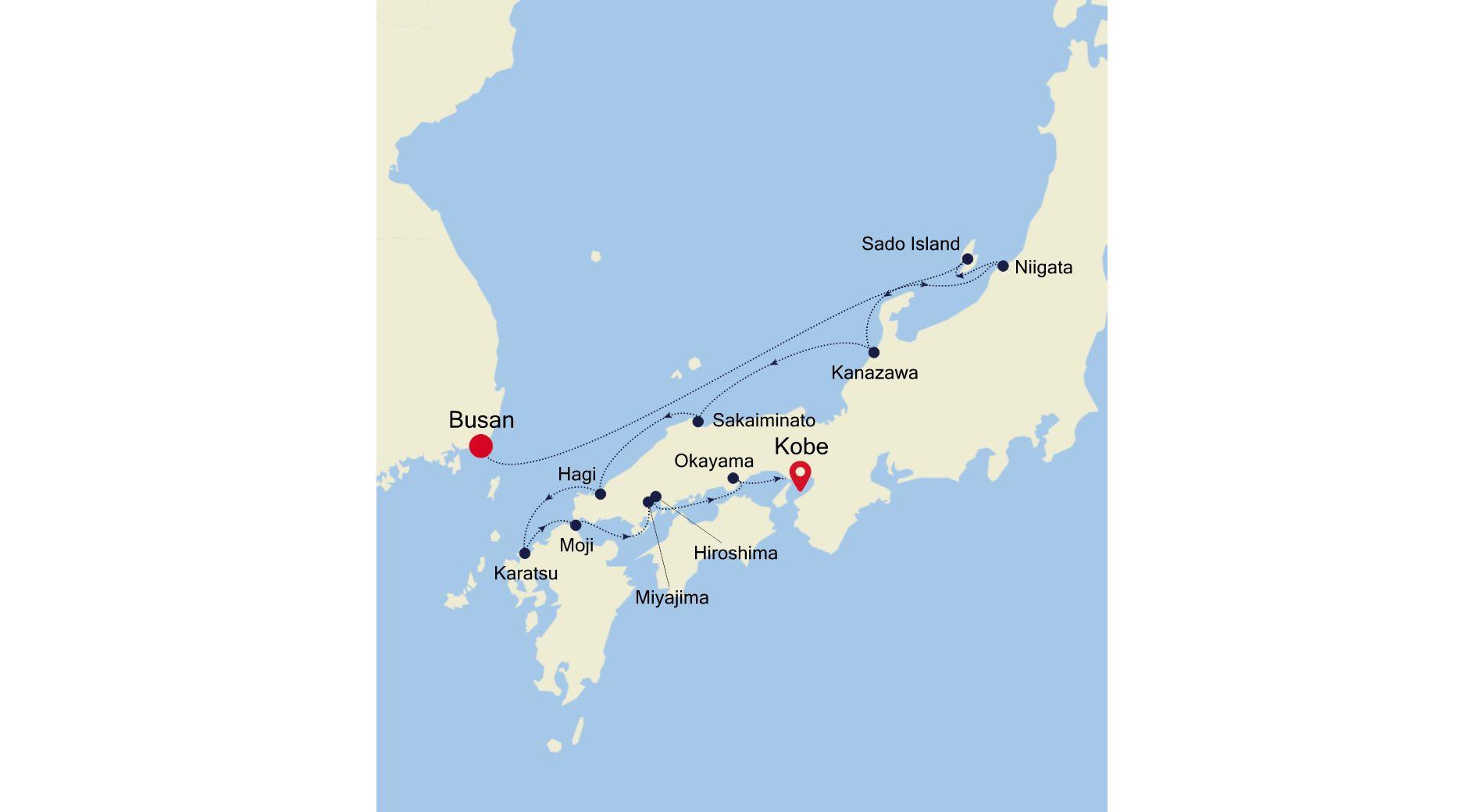 7910A - Busan to Kobe