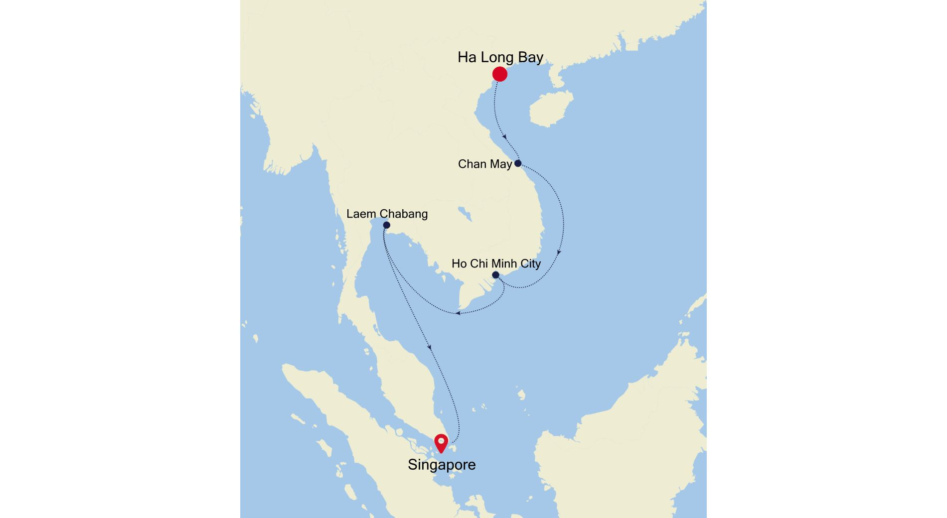 5004G - Ha Long Bay nach Singapore