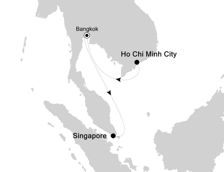 3904A - Ho Chi Minh City nach Singapore