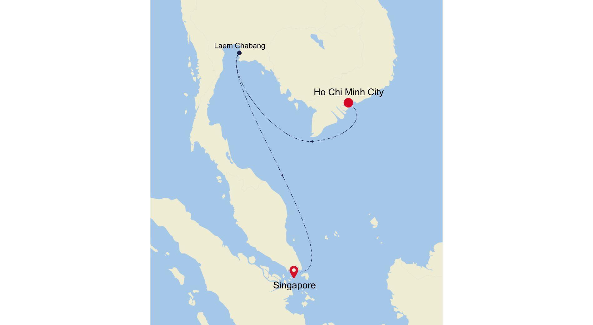 6929C - Ho Chi Minh City a Singapore