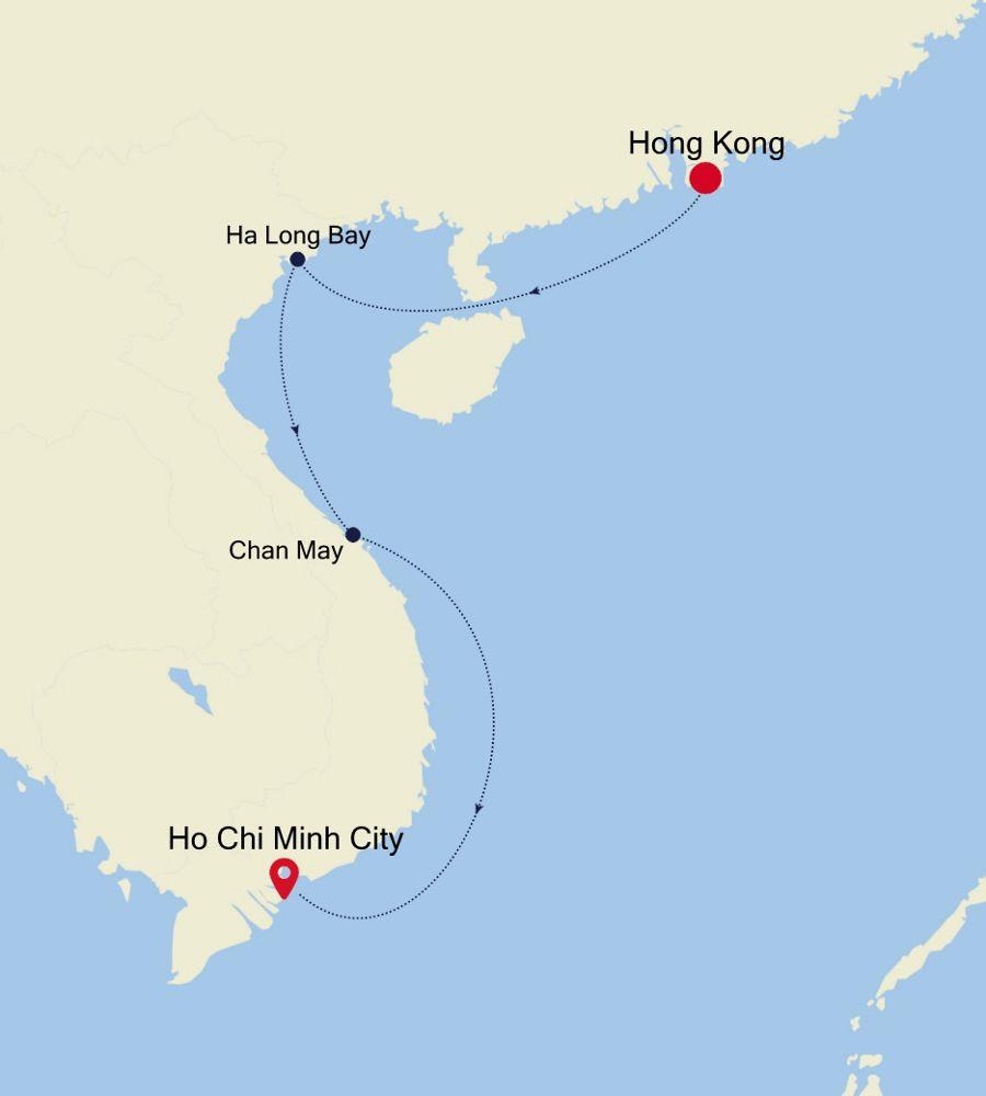 3904B - Hong Kong a Ho Chi Minh City