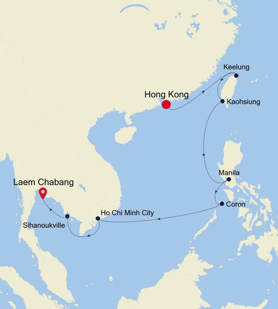 5002 - Hong Kong à Laem Chabang
