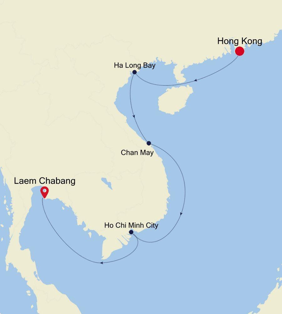 6929A - Hong Kong to Laem Chabang