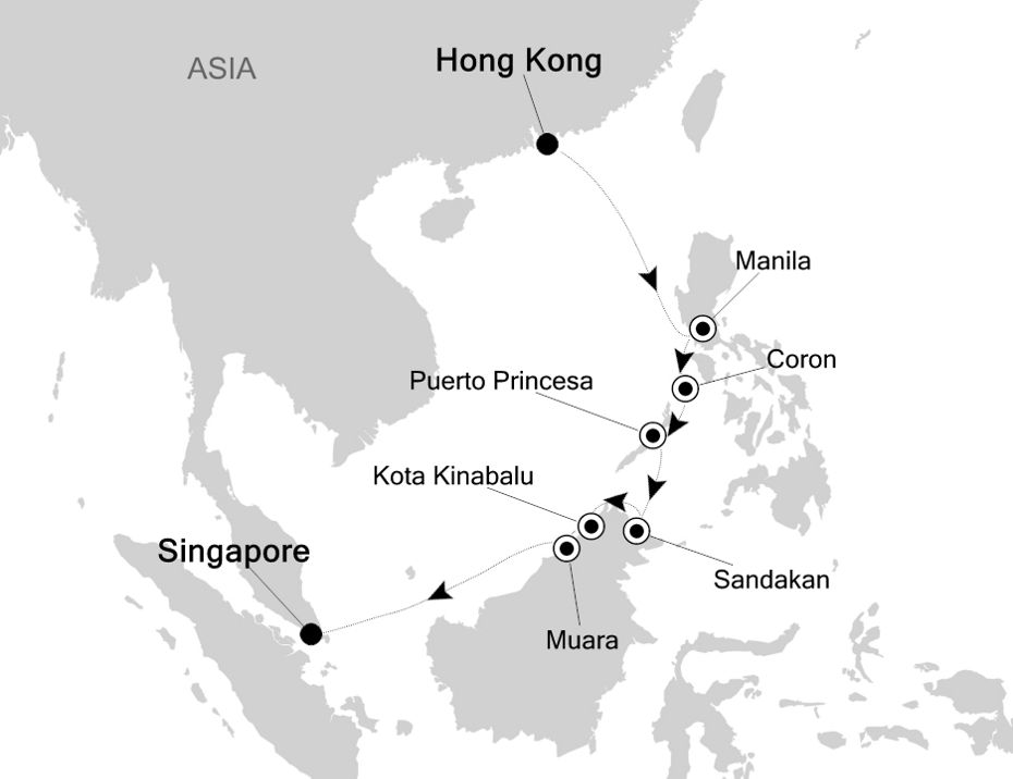3806 - Hong Kong to Singapore