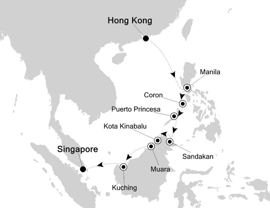 3809 - Hong Kong to Singapore