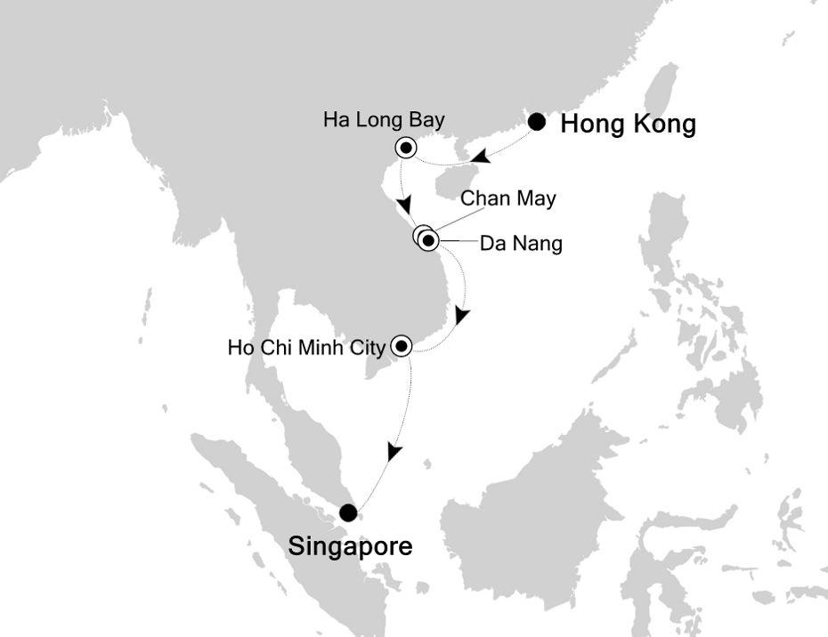 3833 - Hong Kong to Singapore