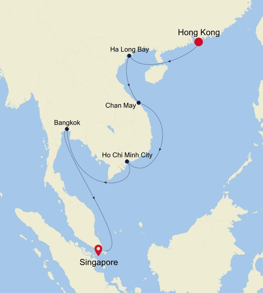 3901 - Hong Kong a Singapore