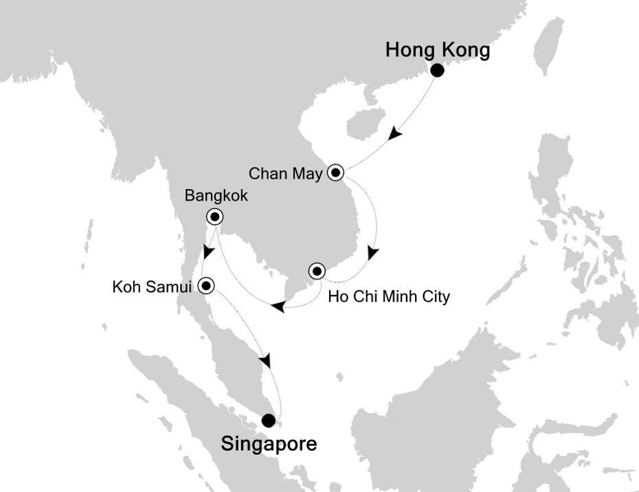3906 - Hong Kong à Singapore