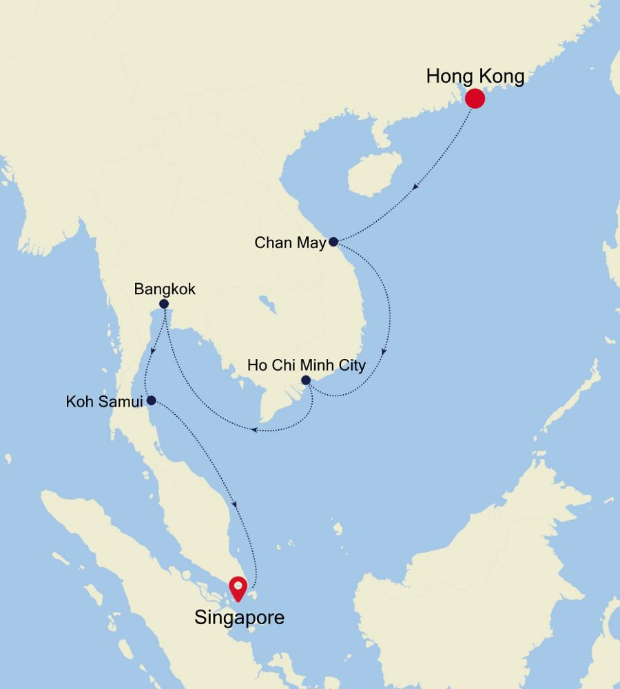 3906 - Hong Kong to Singapore