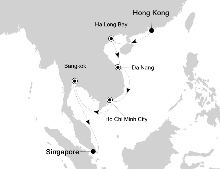 4806 - Hong Kong a Singapore
