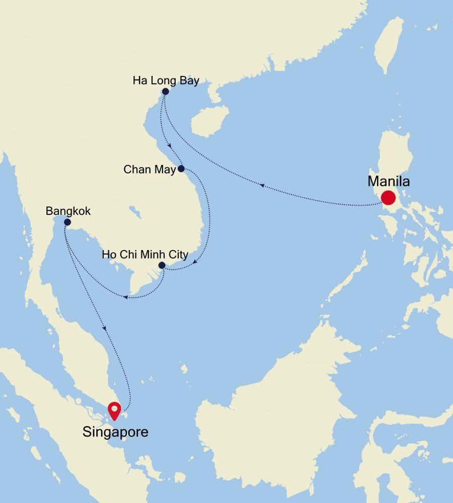 5004 - Hong Kong nach Singapore