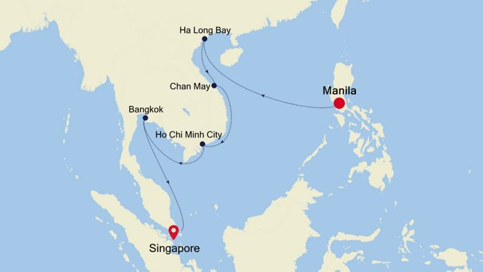 Luxury Cruise from HONG KONG to SINGAPORE 15 Feb 2020 ...
