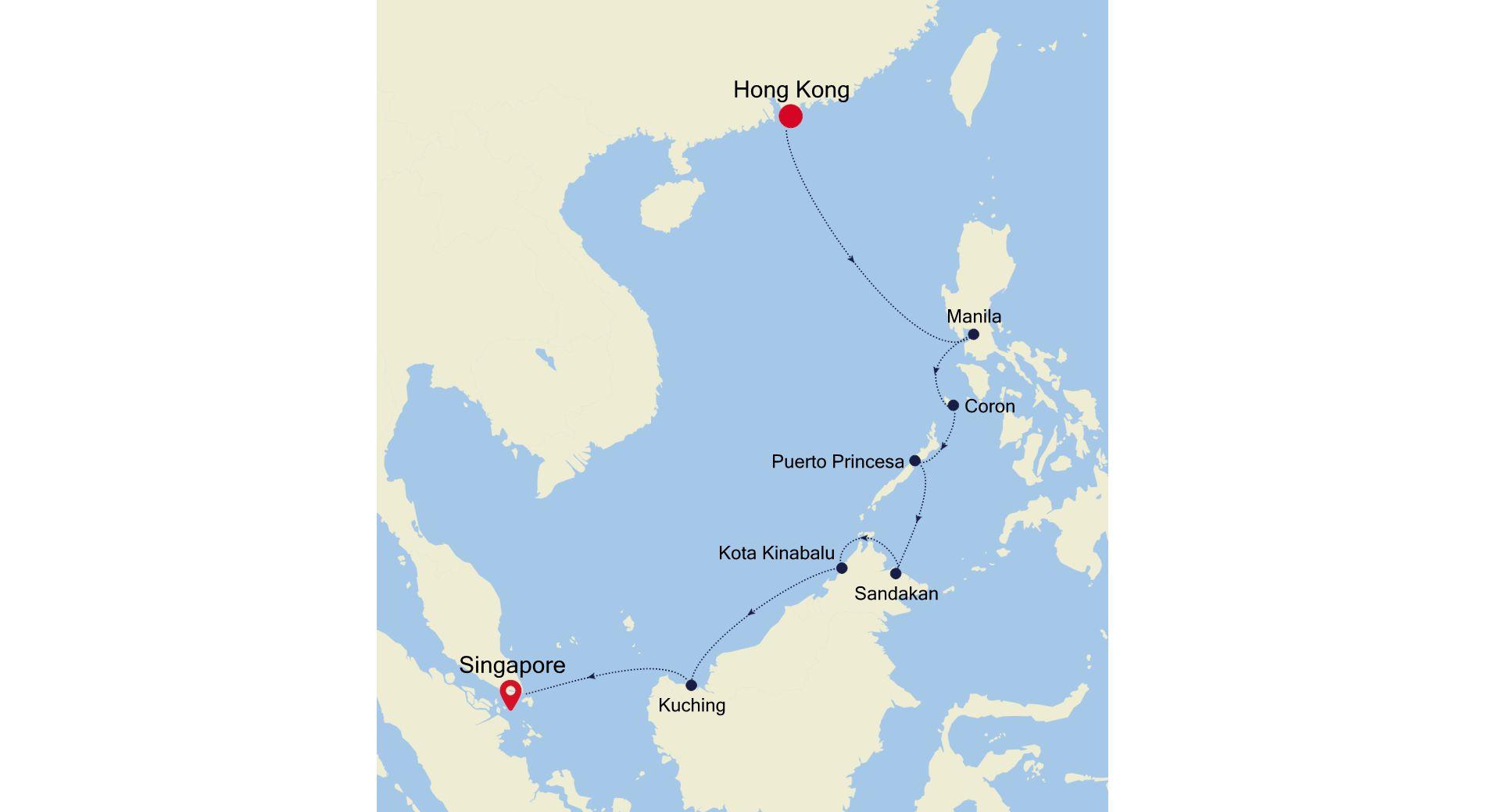 5936 - Hong Kong à Singapore