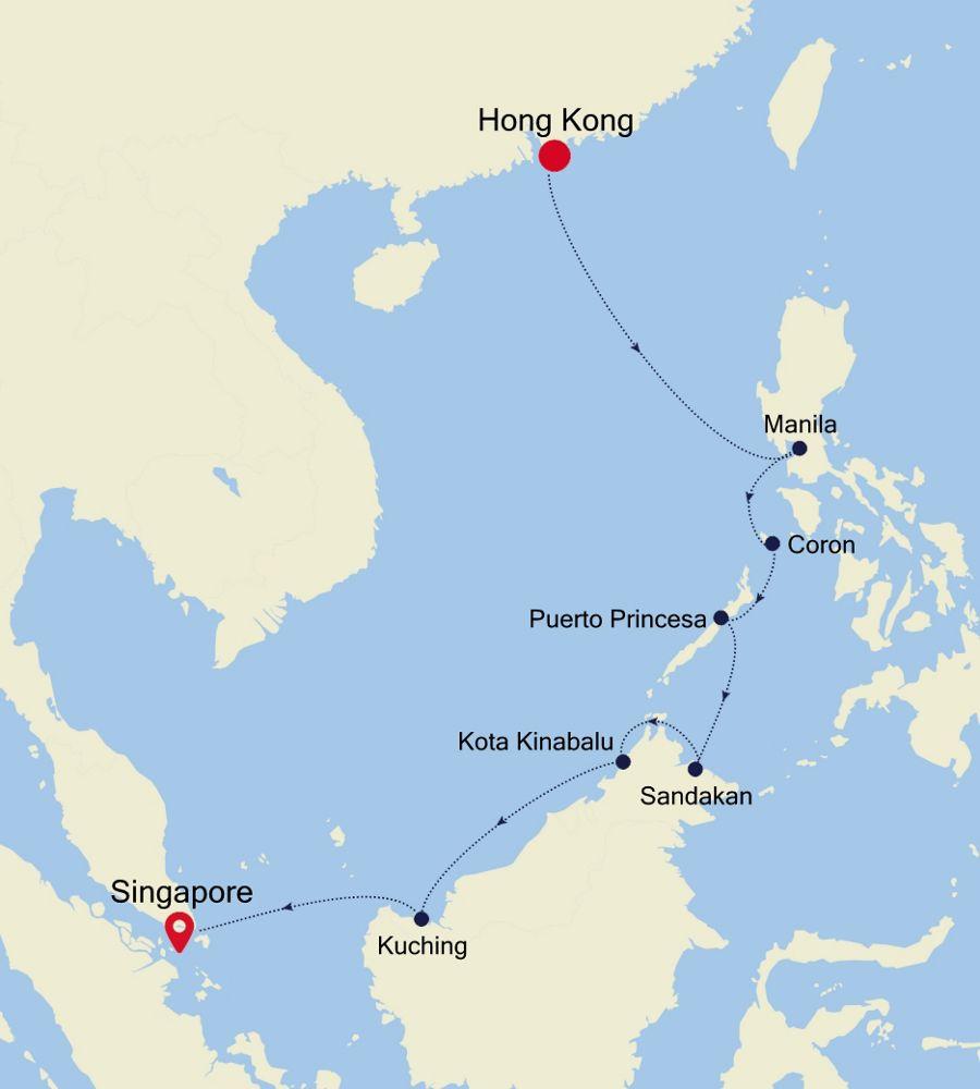 5936 - Hong Kong nach Singapore