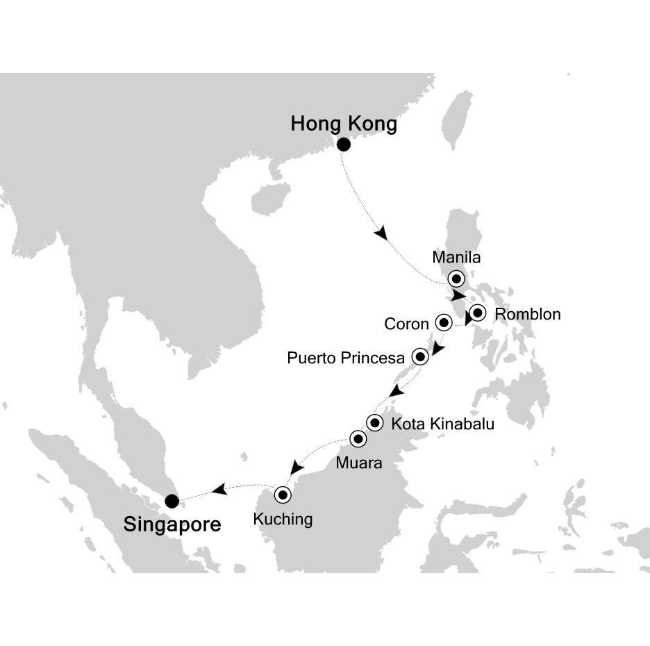 6832 - Hong Kong to Singapore