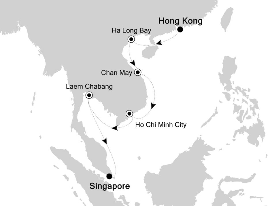 6929 - Hong Kong to Singapore