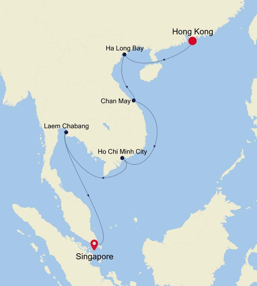 6929 - Hong Kong à Singapore