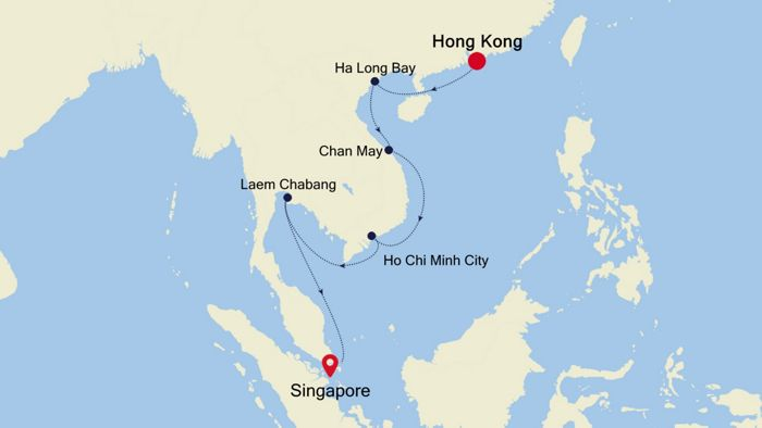 Luxury Cruise from HONG KONG to SINGAPORE 04 Nov 2019 ...