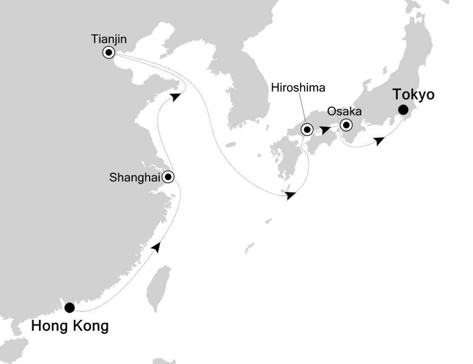 3811 - Hong Kong a Tokyo