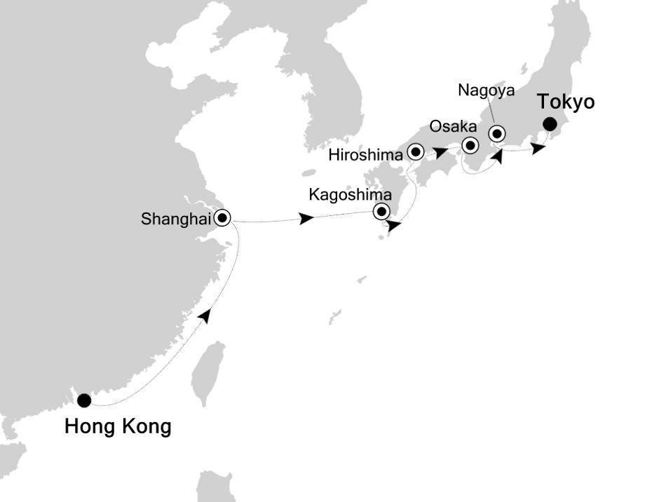3831 - Hong Kong nach Tokyo