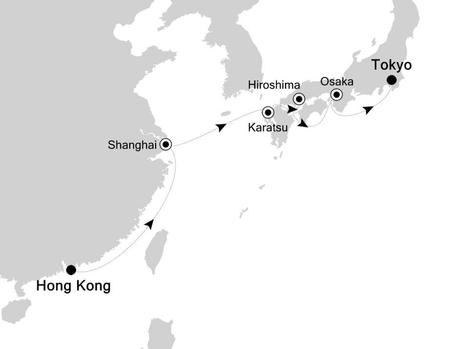 6907 - Hong Kong à Tokyo