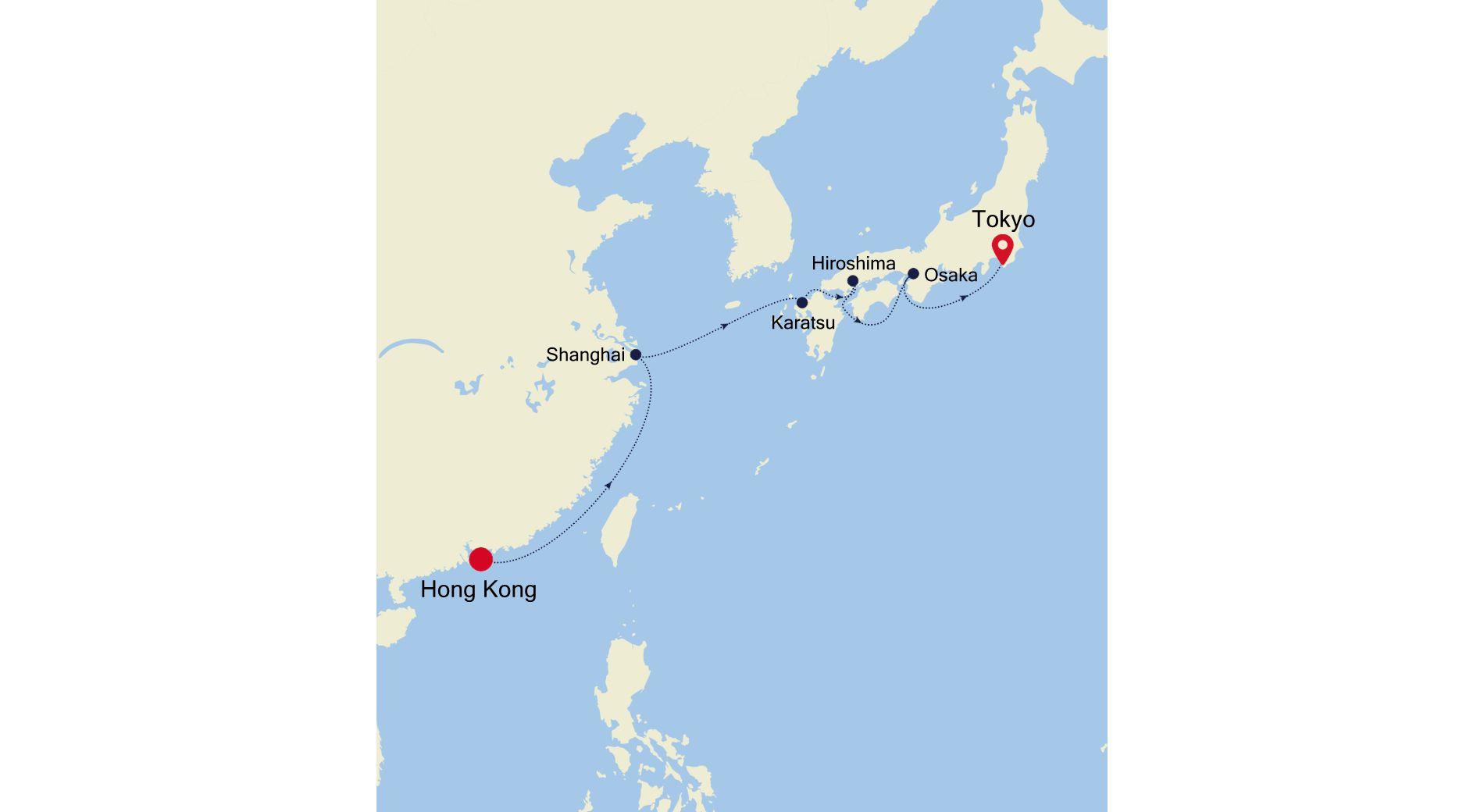 6907 - Hong Kong nach Tokyo