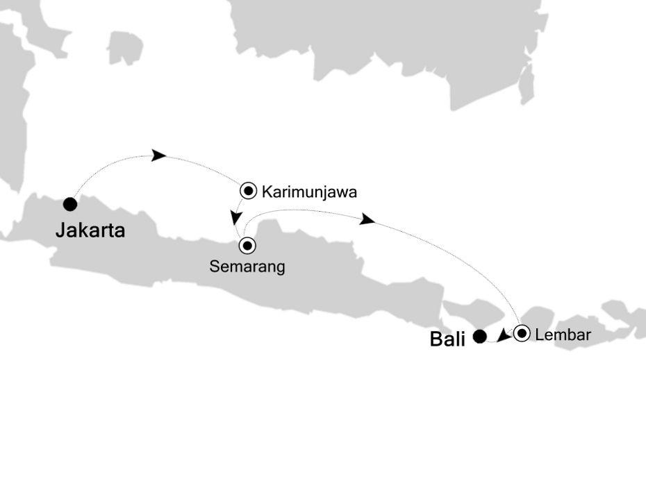 6834X - Jakarta a Bali
