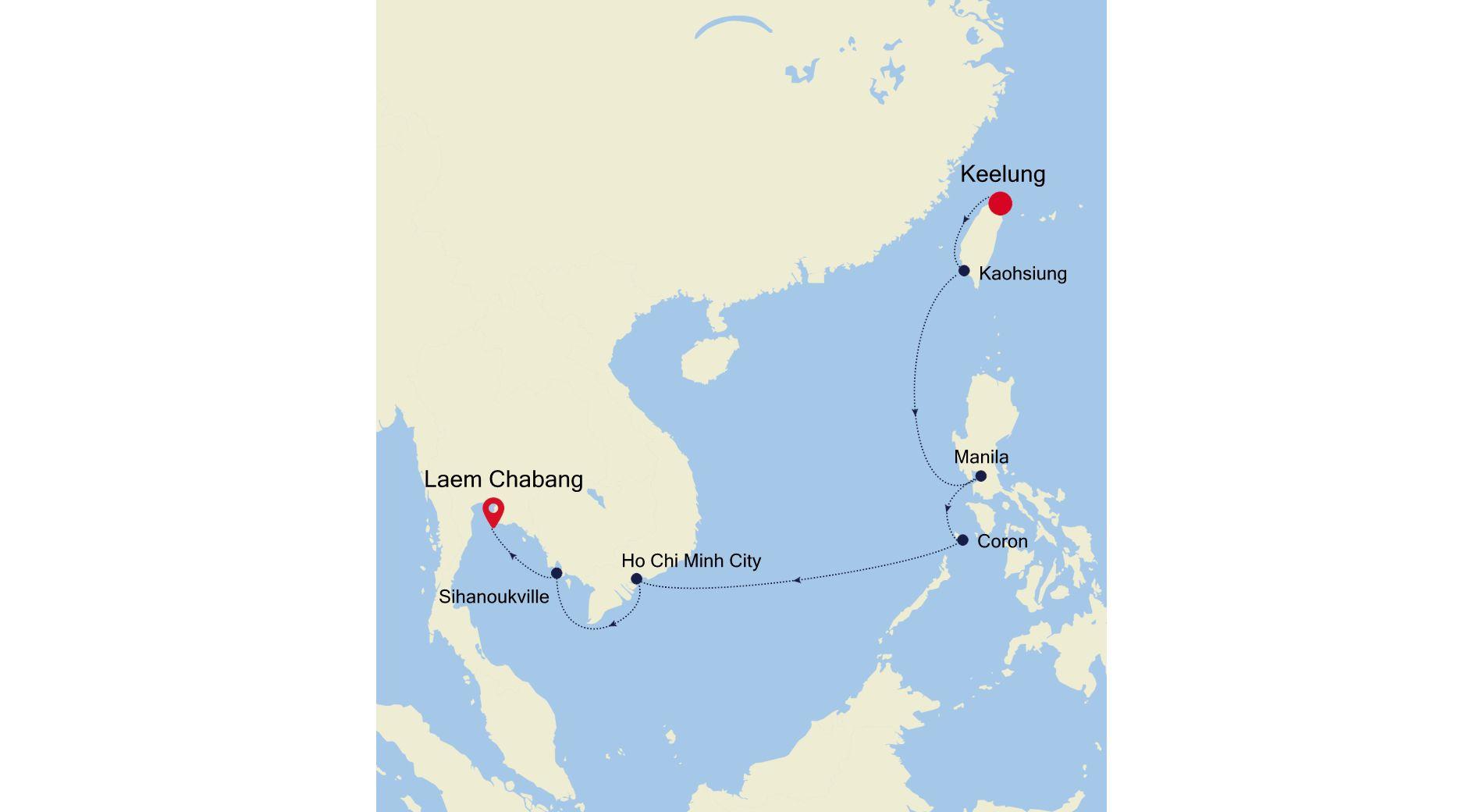 5002D - Keelung to Laem Chabang