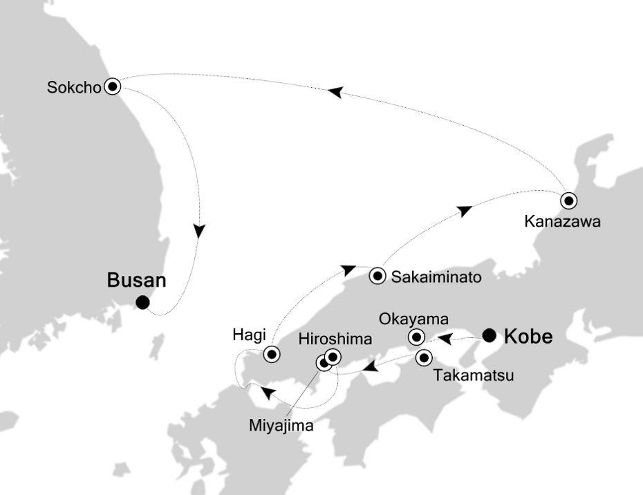 7910 - Kobe  to Busan