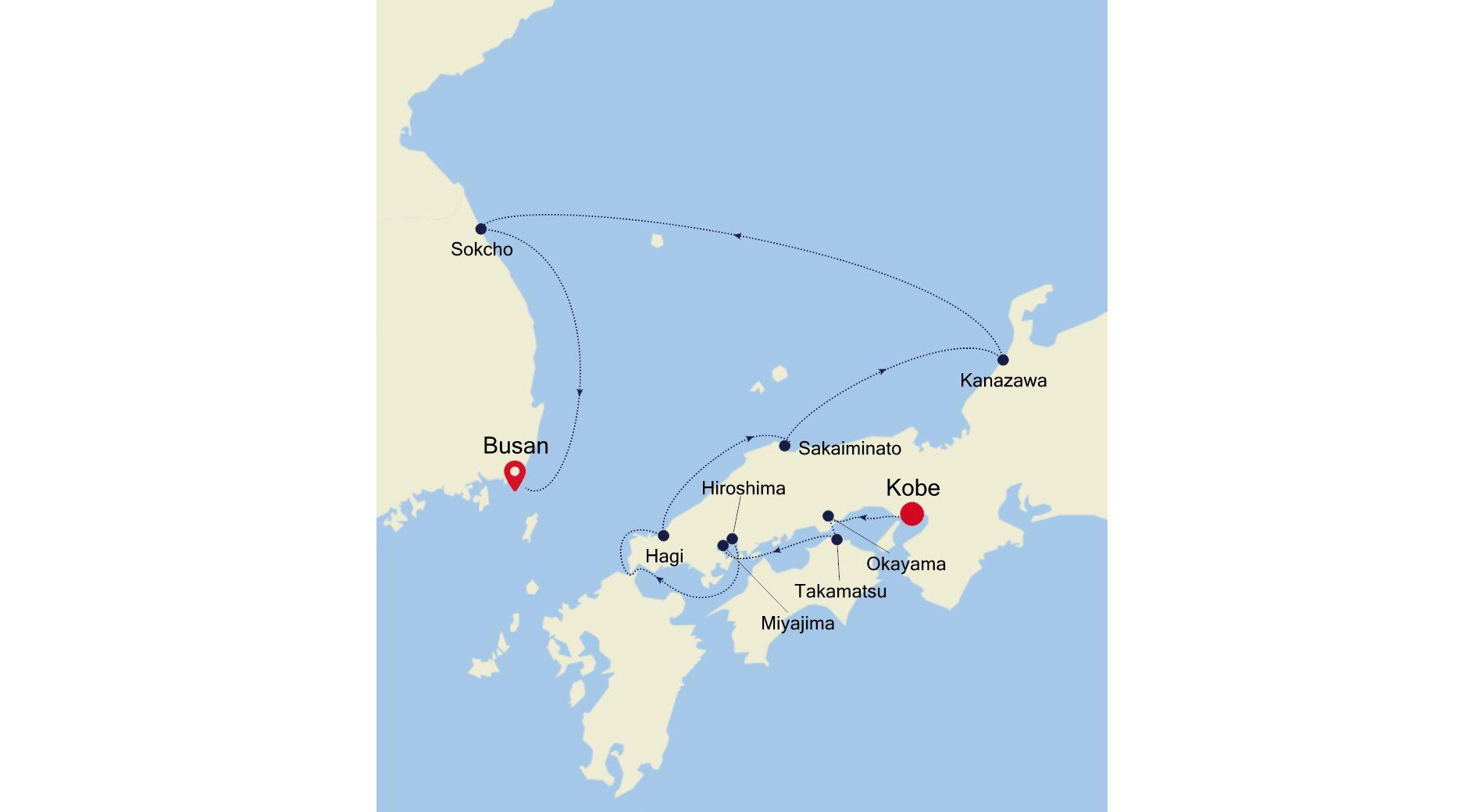 7910 - Kobe  a Busan
