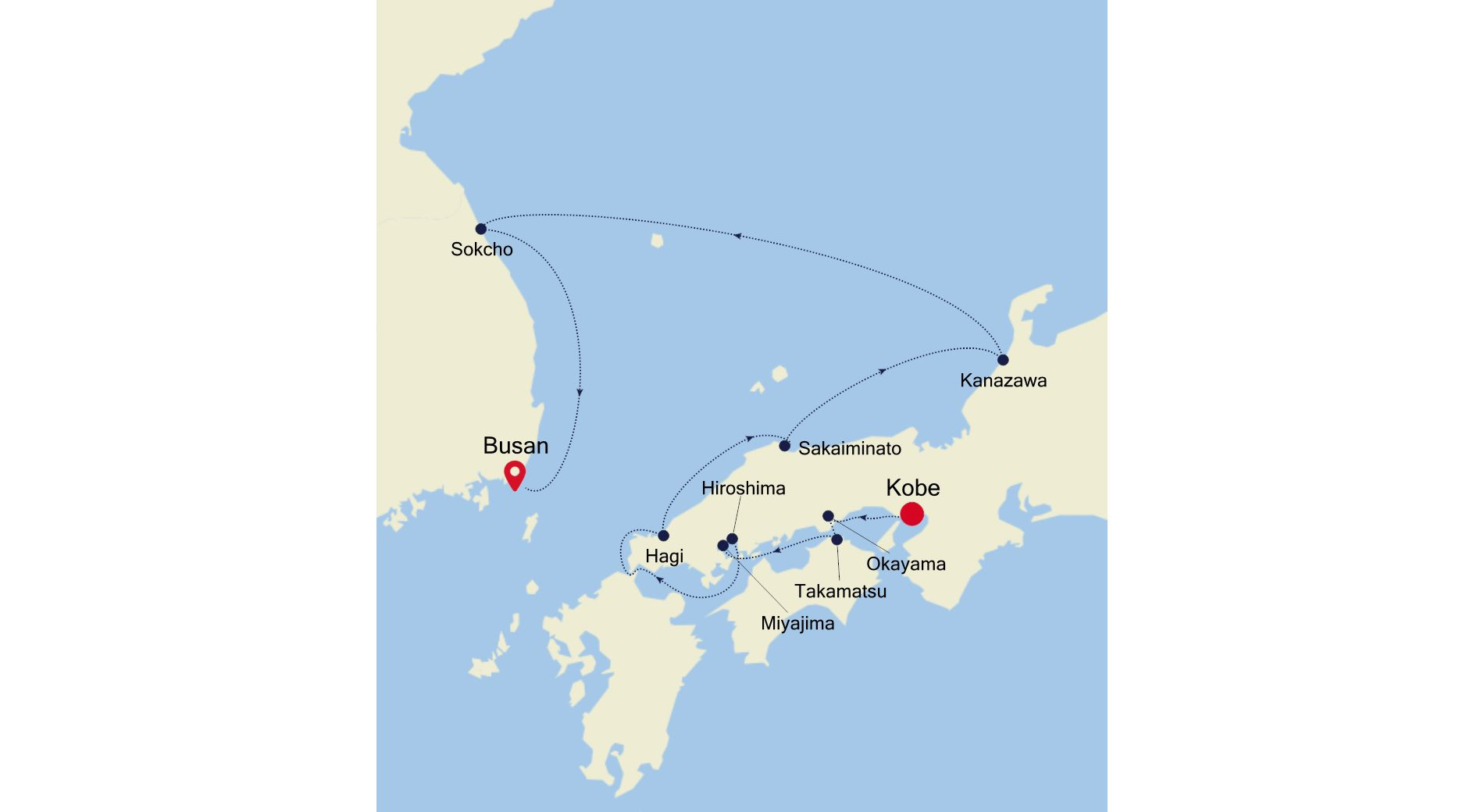 7910 - Kobe  nach Busan