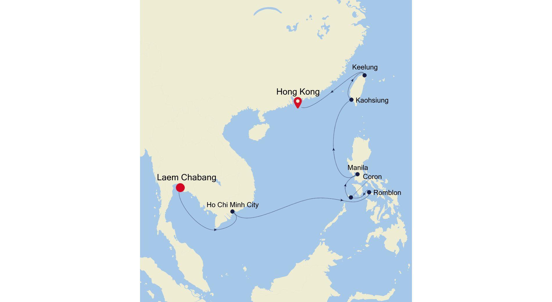 5003 - Bangkok nach Hong Kong