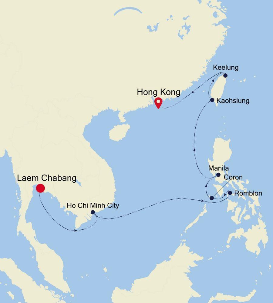 5003 - Laem Chabang nach Hong Kong