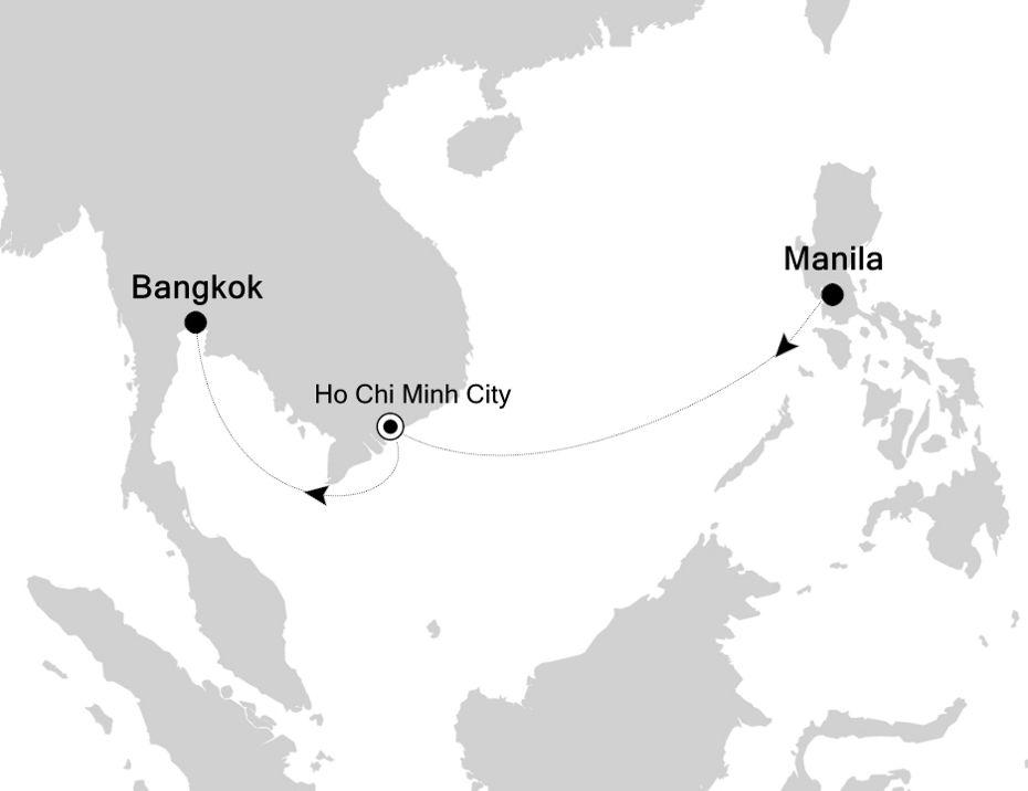 3834C - Manila nach Bangkok