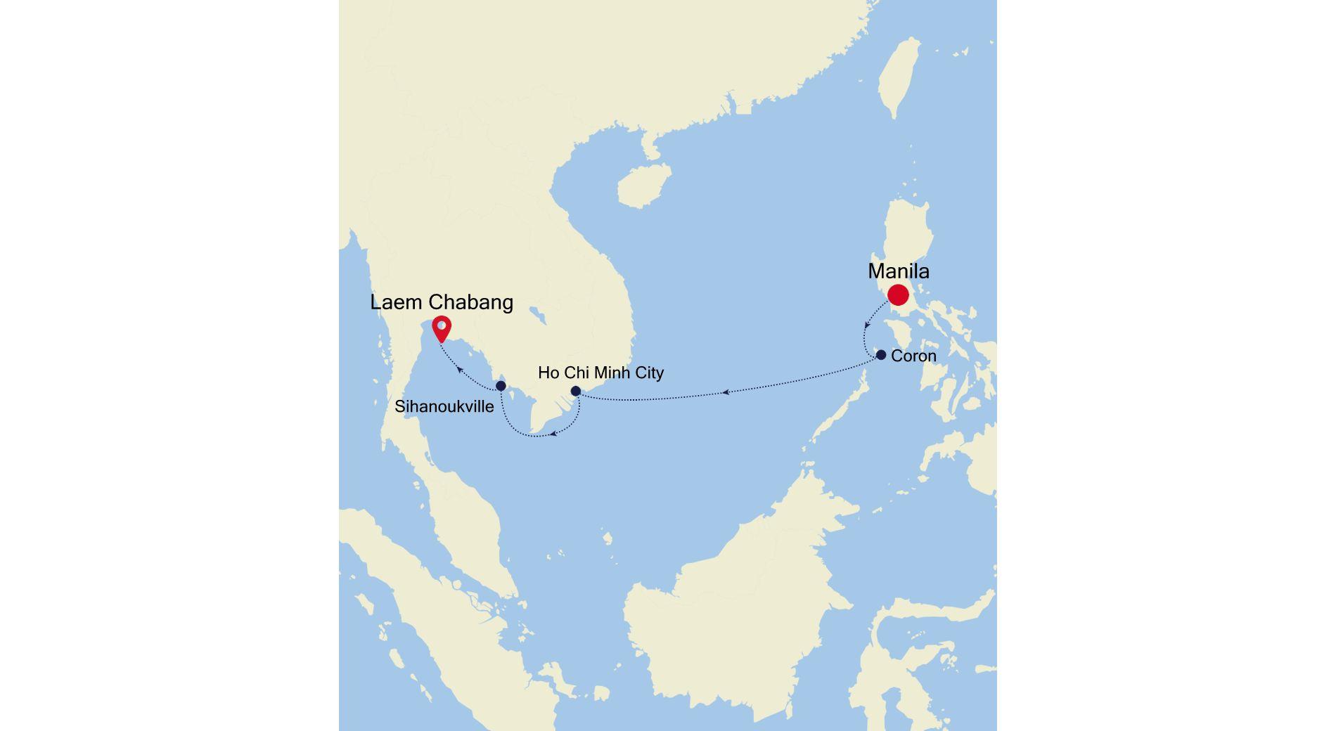 5002B - Manila nach Laem Chabang