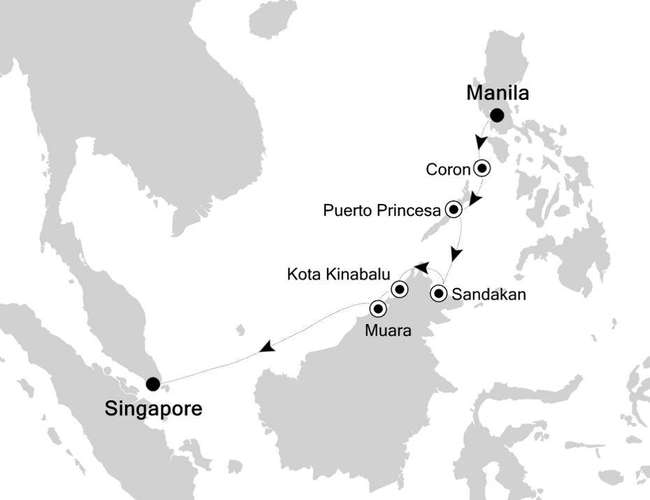 3806A - Manila a Singapore