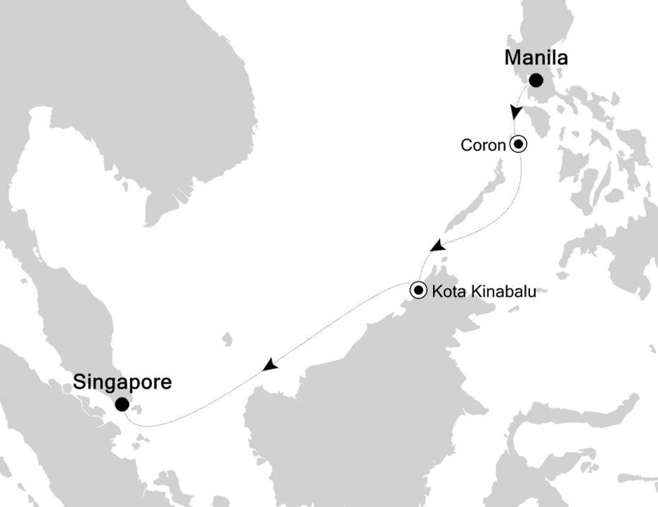 6905B - Manila à Singapore