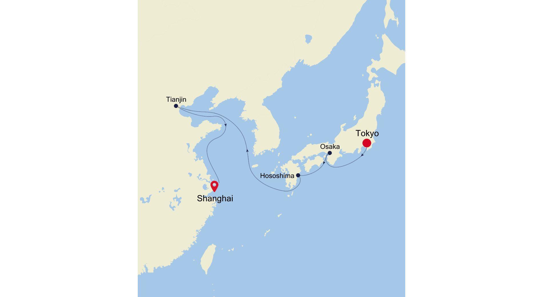 6928C - Tokyo to Shanghai