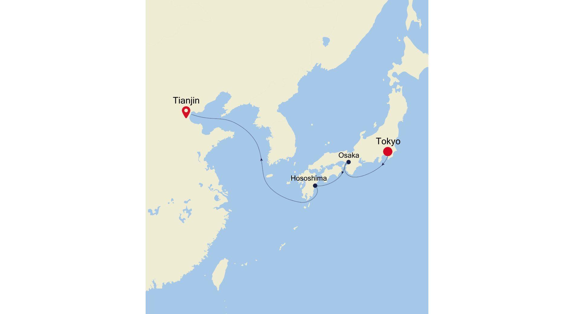6928A - Tokyo to Tianjin