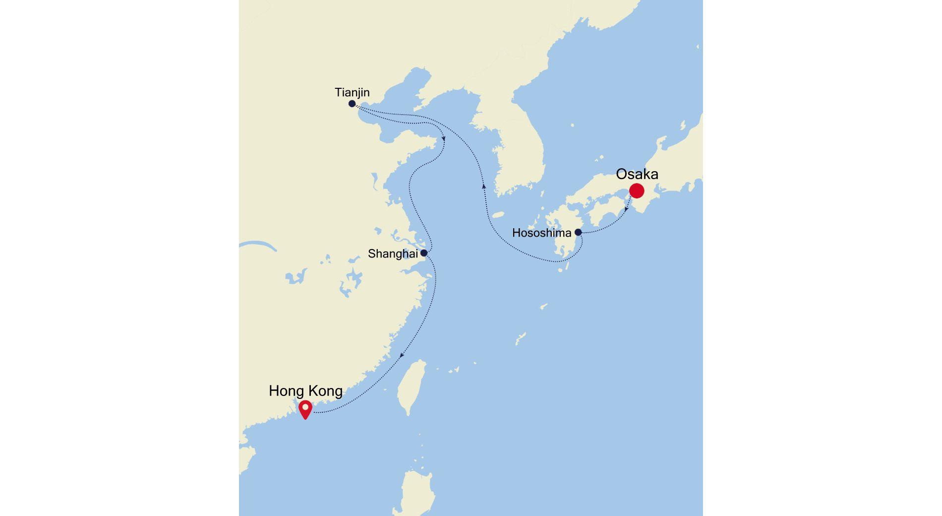6928D - Osaka to Hong Kong