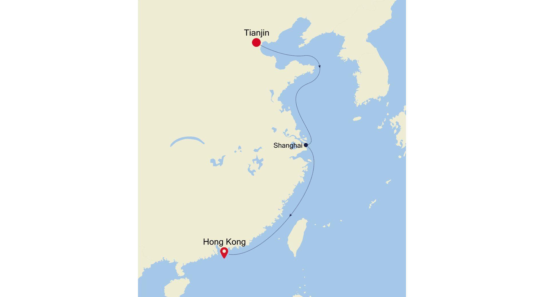 6928B - Tianjin nach Hong Kong