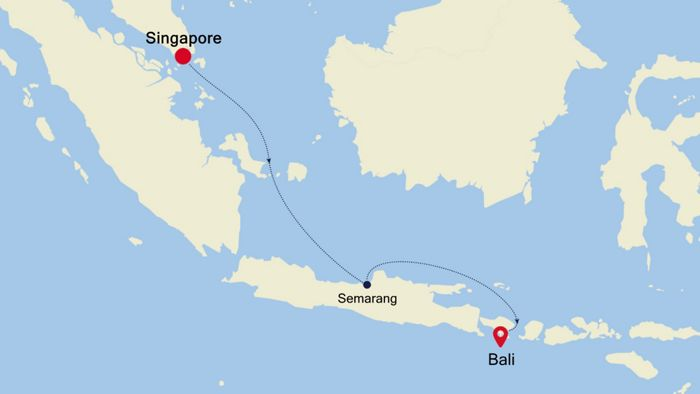 Bali Carte Continent.Luxury Cruise From Singapore To Bali 18 Nov 2019 Silversea